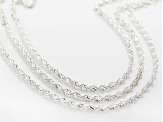 Sterling Silver Torchon Necklace Set Of Three 18, 20, And 24 inch