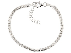 Sterling Silver Round Diamond Cut Designer Bracelet 7 inch