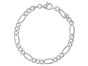 Sterling Silver Figaro Bracelet 7.5 inch