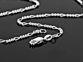 Sterling Silver 1.8mm Diamond Cut Figaro Link Chain Necklace 18 inch