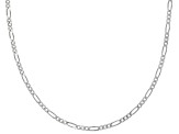 Sterling Silver 1mm Gauge Diamond Cut Figaro Link Chain Necklace 20 inch