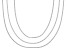 Sterling Silver Set Of 3 0.5MM Diamond Cut Curb Link Chains