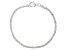 Sterling Silver Round Wheat Link Bracelet 7.5 Inch