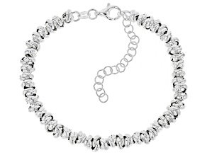 Sterling Silver Rolling Milano Bracelet 7 Inch With 2 Inch Extender
