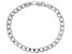 Sterling Silver Faceted Curb Bracelet 8 Inch
