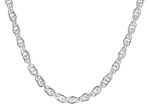 Sterling Silver Singapore Chain Necklace 18 Inch
