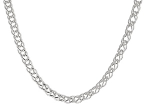 Sterling Silver Marquise Chain Necklace 18 Inch