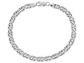 Sterling Silver Designer Curb Bracelet 7.5 Inch