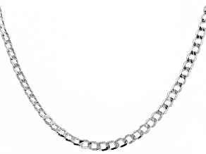 Sterling Silver 5mm Curb Chain Necklace 20 Inch