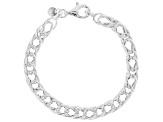 Sterling Silver Hollow Multi-Linked Curb Bracelet