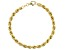 18K Yellow Gold Over Sterling Silver Hollow Rope Chain Bracelet 7.5 Inch