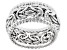 Sterling Silver Beaded Byzantine Wide Band Ring