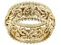18K Yellow Gold Over Sterling Silver Beaded Byzantine Wide Band Ring