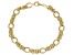 18K Yellow Gold Over Sterling Silver Diamond Cut And Polished Fancy Byzantine Bracelet 8 Inch