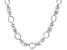 Sterling Silver Diamond Cut And Polished Fancy Byzantine Necklace 18 Inch