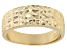 18k Yellow Gold Over Sterling Silver Diamond Cut Graduated Band Ring
