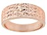 18k Rose Gold Over Sterling Silver Diamond Cut Graduated Band Ring