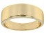 18k Yellow Gold Over Sterling Silver Graduated Band Ring