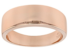 18k Rose Gold Over Sterling Silver Polished Graduated Band Ring
