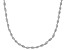 Sterling Silver 2 MM Spiral Herringbone Chain Necklace 18 Inch