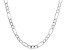 Sterling Silver Diamond Cut Figaro Bevelled Chain Necklace 18 Inch