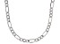 Sterling Silver Diamond Cut Figaro Bevelled Chain Necklace 24 Inch
