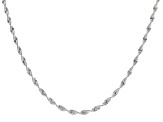 Sterling Silver 2.2MM Spiral Herringbone Chain Necklace 20 Inch