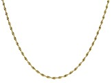 18K Yellow Gold Over Sterling Silver Spiral Herringbone Chain Necklace 20 Inch