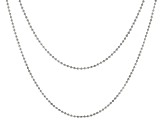 Sterling Silver Bead Chain Necklace Set 18 Inch And 20 Inch