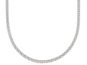 Sterling Silver 2.2MM Popcorn Chain Necklace 18 Inch
