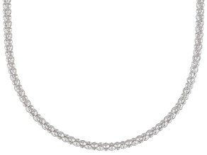 Sterling Silver 2.2MM Popcorn Chain Necklace 20 Inch