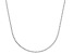 Sterling Silver 1.3MM Box Chain Necklace 18 Inch