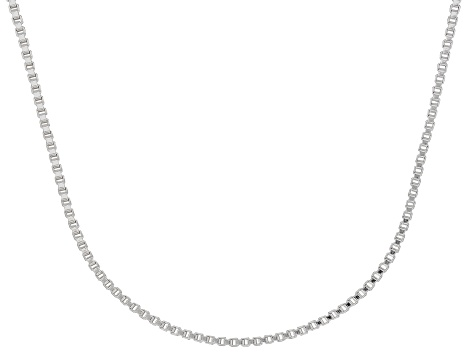 Sterling Silver 1.3MM Box Chain Necklace 20 Inch