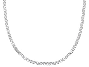 Sterling Silver 2.8MM Bismark Chain Necklace 18 Inch