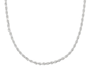 Sterling Silver 2MM Rope Chain Necklace 20 Inch