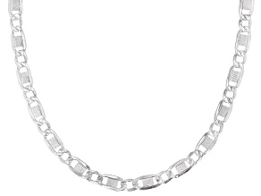 Sterling Silver 4.6MM Valentino Chain Necklace 20 Inch