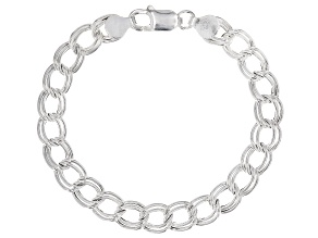 Sterling Silver Cable Link Bracelet 7.5 Inch