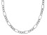 Sterling Silver Oval Textured Link Chain Necklace 18 Inch