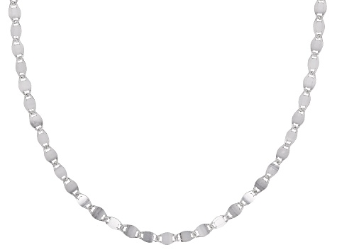 Sterling Silver 3MM Mirror Link Chain Necklace 18 Inch