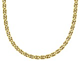 18K Yellow Gold 4MM Over Sterling Silver Birdeye Chain Necklace 20 Inch