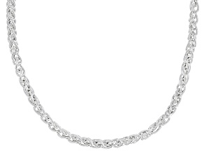 Sterling Silver 3MM Wheat Chain Necklace 20 Inch