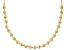 18k Yellow Gold Over Sterling Silver Bead Necklace 16 Inch With 2 Inch Extender