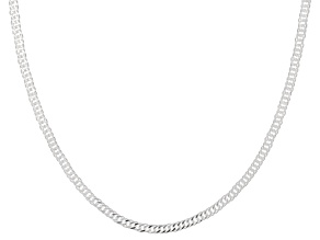Sterling Silver 2MM Link Chain Necklace 24 Inch