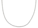 Sterling Silver Polished Spiral Link Chain Necklace 24 Inch