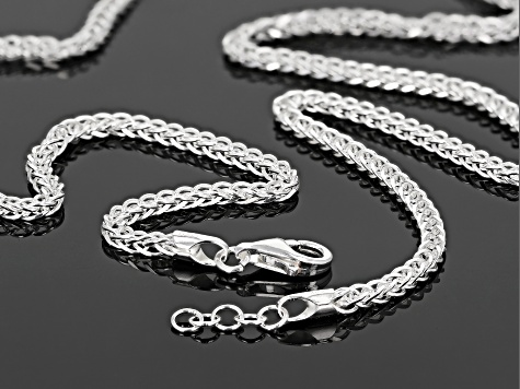 18.00-Inch Metal Fashion Necklace in Sterling Silver