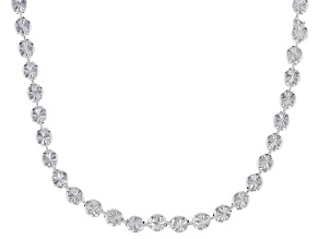 Sterling Silver Designer Diamond Cut Bead Chain Necklace 18 Inch