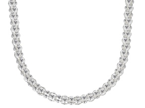 Sterling Silver 2.5MM Popcorn Chain Necklace 18 Inch