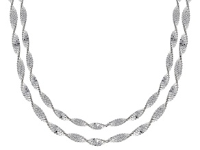 Sterling Silver Snake Chain Necklace Set 18 & 20 Inch