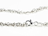 Sterling Silver Diamond Cut Multi Link Rolo Chain Necklace 20 Inch