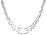 Sterling Silver Diamond Cut Criss Cross Link Chain Necklace Set 18, 20, & 22 Inch